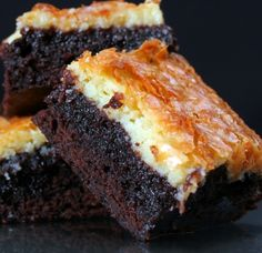 Cheesecake brownies. A Great American Cookie Co copycat