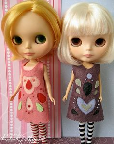 felt cutout dresses