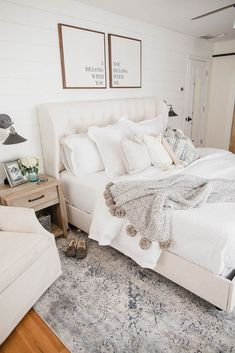 Summer Master Bedroom - # Schlafzimmer - # Genel Source by Home Decor Bedroom, Bedroom Inspirations, Home Bedroom, Rustic Bedroom, Minimalist Bedroom, Bedroom Makeover, Bedroom Design, Bedroom Artwork, Home Decor