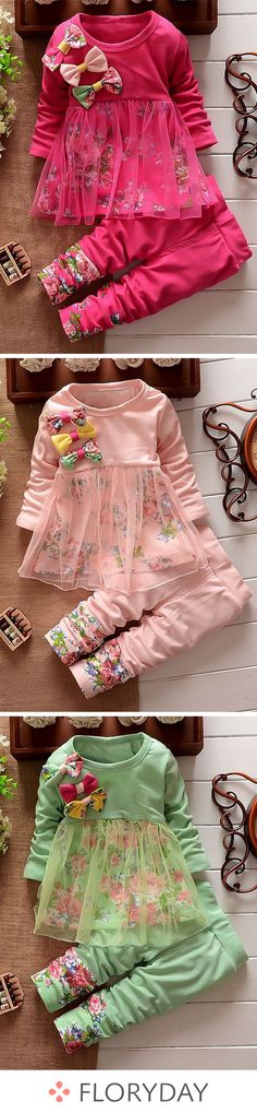 65 Ideas Dress Long Sleeve Pattern Outfit For 2019 Little Girl Outfits, Little Girl Fashion, Toddler Fashion, Toddler Outfits, Kids Outfits, Kids Fashion, Sewing For Kids, Baby Sewing, Coco Moda