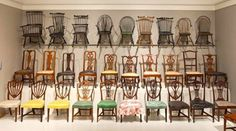 Style Glossary: Queen Anne. Now that you know what to look for, can you find the Queen Anne chairs? (Answer: 2nd row, 3 leftmost (the rest of that row shows the evolution toward Chippendale-style)