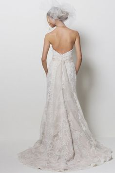 very pretty back to this dress (Watters bride collection, style Pasadena)