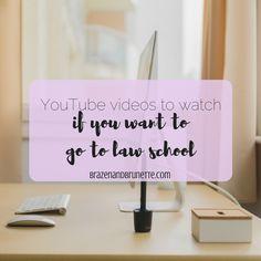 11 law school video bloggers from YouTube to watch before law school | brazenandbrunette.com