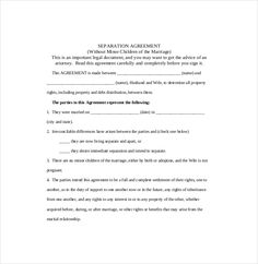 Divorce petition template separation agreement for Divorce agreement template canada