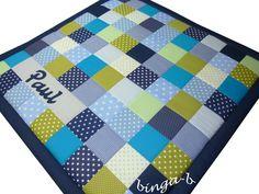 Krabbeldecken - ♥Krabbeldecke mit Namen♥ - ein Designerstück von binga-b bei DaWanda