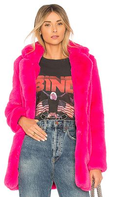 Shop for MAJORELLE Amora Faux Fur Coat in Magenta at REVOLVE. Free 2-3 day shipping and returns, 30 day price match guarantee.