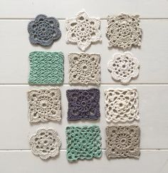 Sweet cotton coasters, each crocheted by hand with the utmost care for quality…