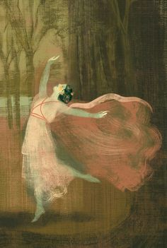 "Illustration from children's book ""Isadora Duncan"" by Sabina Colloredo, Edizioni El, 2006. Anna & Elena Balbusso."