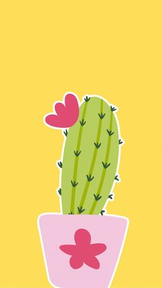 Iphone wallpaper cactus, plant, prickly pear, barbary fig, i Cute Wallpaper For Phone, Unique Wallpaper, Tumblr Wallpaper, Screen Wallpaper, Wallpaper Backgrounds, Iphone Wallpaper, Cactus Art, Paper Cactus, Belle Photo