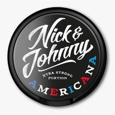 Packaging for Swedish Snus brand Nick & Johnny created by Scandinavian Design Group
