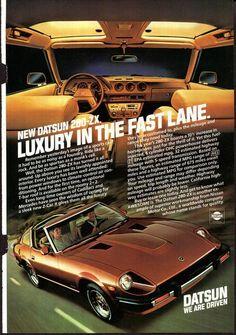 1971 Datsun 240-Z #2 Vintage Car Poster Print Wall Art Sign Auto Garage Banner