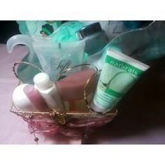 Skin-So-Soft, Cucumber Bubble Bath, Perfume, & Jewelry Gift Basket - Avon