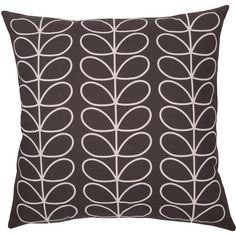 Orla Kiely Tiny Linear Stem Cushion ($69) ❤ liked on Polyvore featuring home, home decor, throw pillows, slate blue, cotton throw pillows and orla kiely
