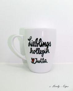 Becher & Tassen - Abschiedsgeschenk LIEBLINGS Kollege Geschenk Tasse - ein Designerstück von Lovely-Cups bei DaWanda