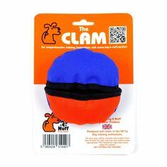 The Clam - Boll med godisficka Blå/Orange i gruppen Hundleksaker / Aktiveringsleksaker hos Dogmania (225001)