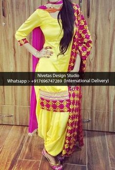 whatsapp +917696747289 International Delivery visit us at https://www.facebook.com/punjabisboutique We do custom suits to match your requirements. We can work together to create stunning Indian outfits especially to match wedding colors, dazzle for a party or any other special occassions. I will create a custom order for you based on your requirements. Punjabi salwar suits, lehengas, replica outfits, sarees blouses , bridal wear suits, patiala salwar suits, anarkalis suits etc