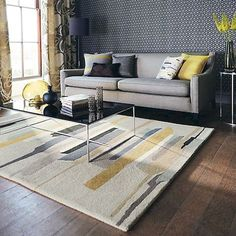 35 Super Teppich Wohnzimmer Ideen – Source by teppichlistelona Living Room Carpet, Rugs In Living Room, Living Room Designs, Living Room Decor, Lounge Rug, Tapis Design, Cool Rugs, Beautiful Living Rooms, Contemporary Rugs