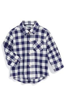 Mini Boden Laundered Cotton Sport Shirt (Baby Boys) available at #Nordstrom