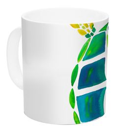 Features:  -Turtle Love collection.  -Artist: Catherine Holcombe.  -Made in the USA.  Country of Manufacture: -United States.  Product Type: -Coffee mug.  Color: -Teal.  Material: -Ceramic.  Style: -C