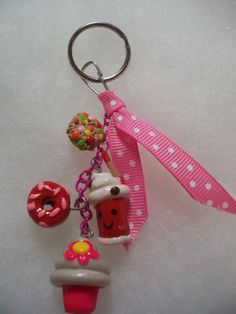 Clay Key Chain by Gizabelle4kids on Etsy, $10.00