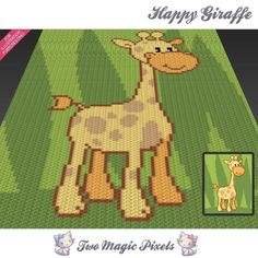 Crochet Graph C2c Craftsy Happy Giraffe TZ7qxTEw