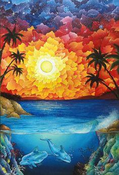 Vivid Colors, Colours, Taste The Rainbow, Color Harmony, Colorful Artwork, Moon Art, Canvas Prints, Art Prints, Photo Canvas