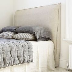Our new Flocca Bedheads are only two weeks away. Designed to co-ordinate with our bed linen palette, each one comes with a luxurious feather wrap and linen slip cover. Removable, washable and best of all interchangeable. Yes, you can buy a different colour