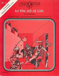 """To the Aid of Falx"", AD&D Edition, R "" Role Playing Game Association, 1 of 10 Dungeons And Dragons Modules, Advanced Dungeons And Dragons, Tabletop Rpg, Tabletop Games, Dream Fantasy, Fantasy Art, Pen And Paper Games, Classic Rpg, D Book"