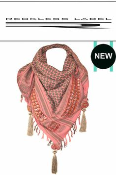 Be pretty in pink with our new RL16 scarf…  http://www.recklesslabel.com/#!shop/c11xx