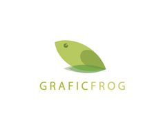 Graficfrog is a minimalist approach to a #logo #design with a frog icon and it works - designed by joelsailo, India