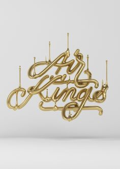 3D letterings I've made this year. The first one is my contribution to the 2015…