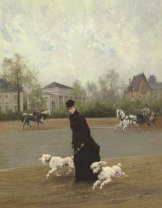 Maurice Poirson, Elegante au Bois de Bologne, circa 1877