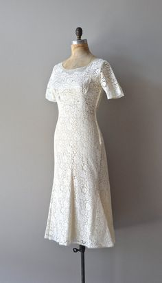 Endearing Charms gown lace 50s wedding dress by DearGolden