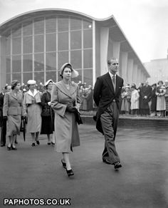 An poster sized print, approx (other products available) - Princess Elizabeth and the Duke of Edinburgh tour the South Bank Exhibition, centre-piece of the Festival of Britain. - Image supplied by PA Images - poster sized print mm) made in Australia Princess Elizabeth, Queen Elizabeth Ii, Edinburgh Tours, Defender Of The Faith, Isabel Ii, Prince Philip, National Photography, British History, Royals