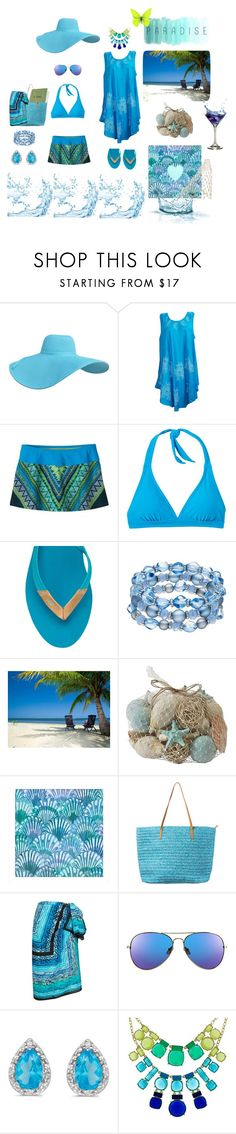 """""""A Day In Paradise"""" by patchworkcrafters ❤ liked on Polyvore featuring prAna, UGG, Pier 1 Imports, PTM Images, Gottex, Amanda Rose Collection and Kate Spade"""