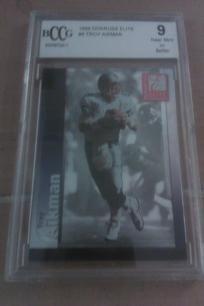 Troy Aikman NFL Dallas Cowboys Graded card 9 BCCG 1999 Donruss Elite Card #008. NICE