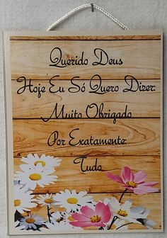 Placa Decorativa Madeira MDF Adesivada Querido Deus