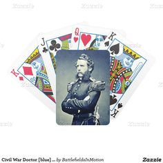 Beautiful Civil War-time epaulettes - Premium deck of Bicycle playing-cards, featuring an 1857 Mathew Brady portrait of 29-year-old Capt. Samuel Wylie Crawford, a military surgeon who had graduated from the University of Pennsylvania and just returned to New York City after serving six years of peacetime frontier-duty in Texas and Mexico.  Three years later, Crawford would be assigned to Forts Moultrie and Sumter, where he witnessed the eruption of the Civil War. #wartimeepaulettes