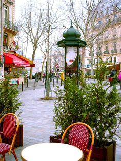 Cafe at Place St'André - Le Marais, Paris - I love Le Marais, favourite spot to stroll and browse....