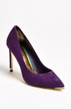 Ted Baker London 'Neevo' Pump available at Suede Pumps, Pumps Heels, High Heels, Stilettos, Purple Suede, Purple Pumps, Purple Gold, Deep Purple, Ugg Shoes