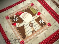 Holiday Stitches II. - red mini - sada 4 ks