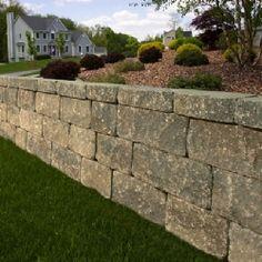 large stone retaining wall