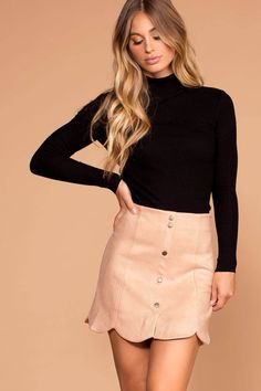 1984fc635a55 20 Best Scalloped Skirt images | Dressing up, Fashion women, Mini skirts