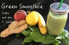 """Grüne Smoothies - Liebe auf den 1. Schluck?  Für viele ist der erste Green Smoothie nicht Liebe auf den ersten Schluck. Was ist denn die Motivation """"Grüne Smoothies"""" zu trinken? Vielleicht weil sie wortwörtlich in aller Munde sind? Clean Eating, Cantaloupe, Fruit, Motivation, Food, Green Smoothies, Few Ingredients, Love, Food Food"""
