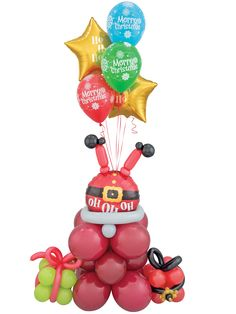 Santa Balloon Bouque