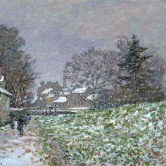 Claude Monet Snow at Argenteuil C