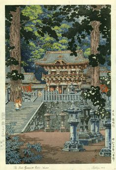 Nikko Yomei Gate by Tsuchiya Koitsu