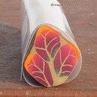 Fall leaf cluster polymer clay cane