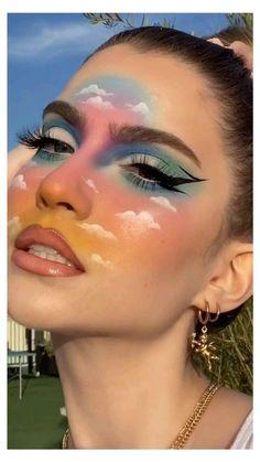 Indie Makeup, Edgy Makeup, Eye Makeup Art, Crazy Makeup, Cute Makeup, Pretty Makeup, Gothic Makeup, Fairy Makeup, Mermaid Makeup