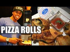 Pizza Rolls with BADASS VEGAN (Spinach & Broccoli) - YouTube